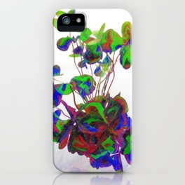 Cut clovers, databending/vector painting/dream smoothing rendition. iPhone Case