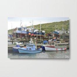 Fishing Harbor Metal Print