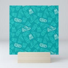 Sneakers // Turquoise Mini Art Print
