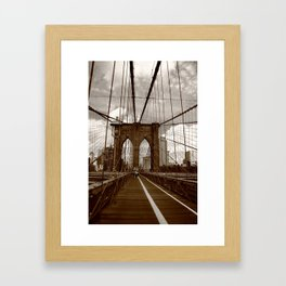 Brooklyn Bridge - New York City 2009 Framed Art Print