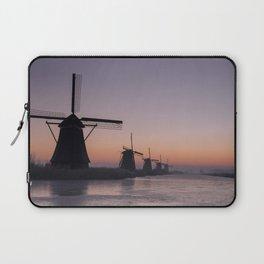 Windmills at Sunrise III Laptop Sleeve