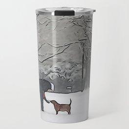a scoop of snow Travel Mug