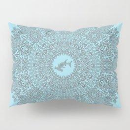Tribal Hammerhead Shark Mandala Pillow Sham
