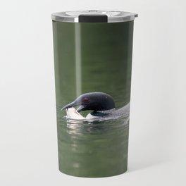 Loon with Rainbow Trout Travel Mug