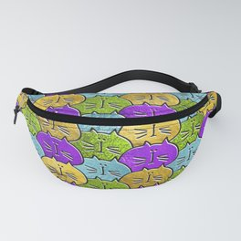 Cute whimsical Glass and glitter Cat Pattern Fanny Pack