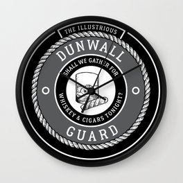 Whiskey & Cigars (Grey) Wall Clock