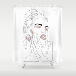 Blush Splash Shower Curtain