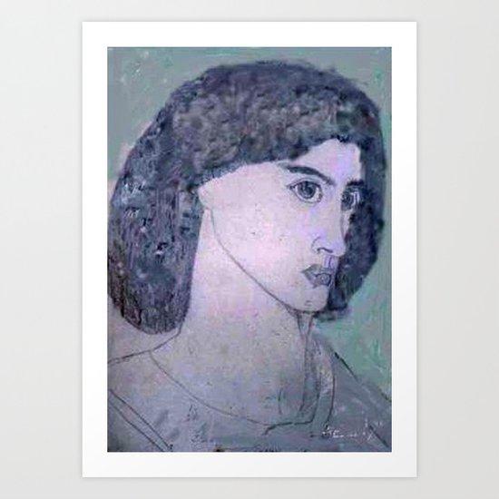 JANE BURDEN STUDY Art Print