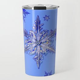 """BLUE SNOW ON SNOW"" BLUE WINTER ART Travel Mug"