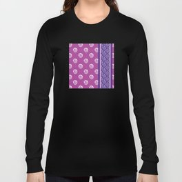Purple and pink scribble flower dot pattern Long Sleeve T-shirt