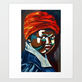 African Traditional Tribal Women Abstract Art Canvas Painting Series - 9 Art Print