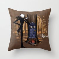 hallion Throw Pillows featuring What's This? What's This? by Karen Hallion Illustrations