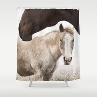 horses Shower Curtains featuring Horses by Ash W