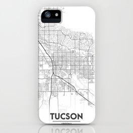Minimal City Maps - Map Of Tucson, Arizona, United States iPhone Case