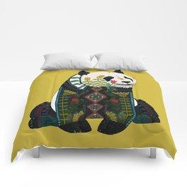 panda ochre Comforters