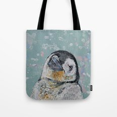 Baby Penguin Snowflakes Tote Bag