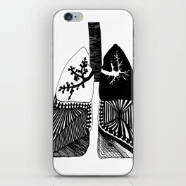 Particle Filtration - Lungs - Respiratory System iPhone Skin