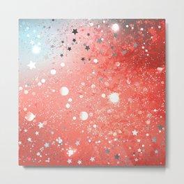 Textural Coral Background Metal Print