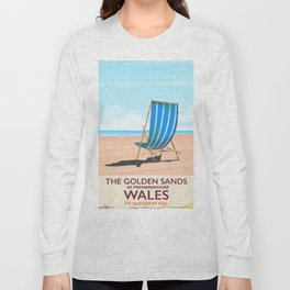 Pembrokeshire Wales vintage trvel poster Long Sleeve T-shirt