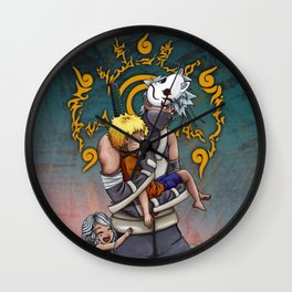 Taking Naruto Home Wall Clock