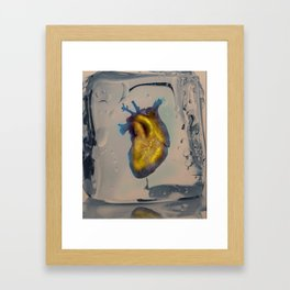 Heart of Gold encased in ice Framed Art Print