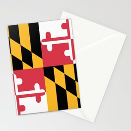 Maryland State Flag Patriotic Design Stationery Cards