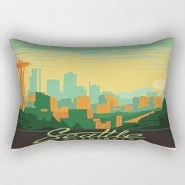Vintage poster - Seattle Rectangular Pillow