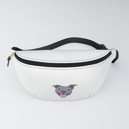 """Certified Dog Lover? Here's a cute t-shirt design with an illustration of """"Pit bull Mama"""" T-shirt Fanny Pack"""