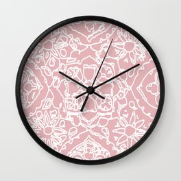 Isola Signature Print Dusty Pink  Wall Clock