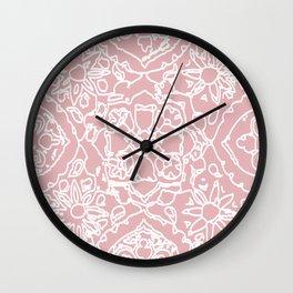 Isola Signature Print Dusty Pink  Wall Clock