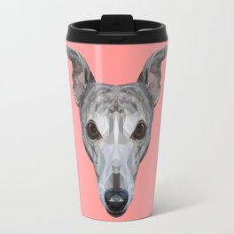 Whippet // Pink Travel Mug