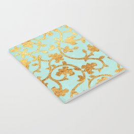 Golden Damask pattern Notebook