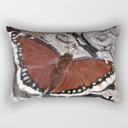 Cloak of Mourning Butterfly Rectangular Pillow