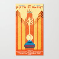 fifth element Canvas Prints featuring Fifth Element Poster by Joshua M. Nelson