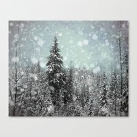 snow white Canvas Prints featuring Snow by Pure Nature Photos