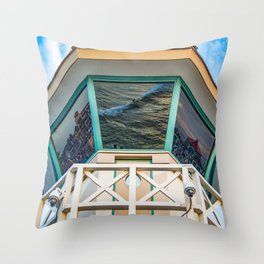 Surf City Reflects  Throw Pillow