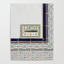 Tiles of Malaga | Spain fine art | Post cards | travel colorful photography Art Print Poster