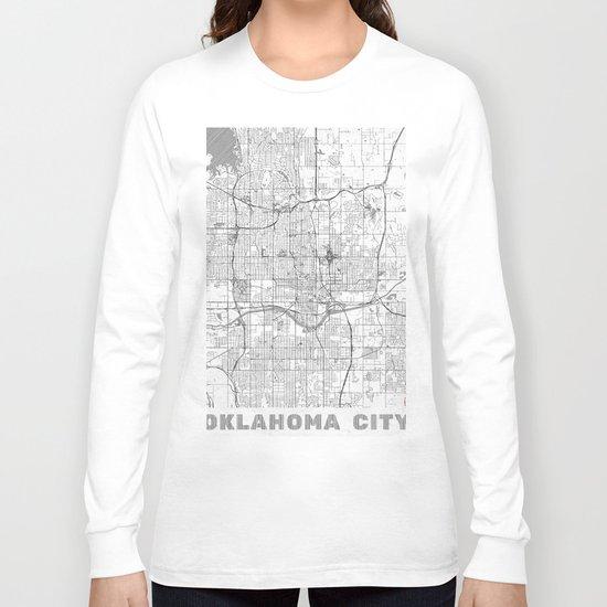 Oklahoma City Map Line Long Sleeve T-shirt