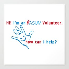 ASUM Volunteer Canvas Print
