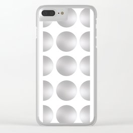 Silver Moon Phase Pattern Clear iPhone Case