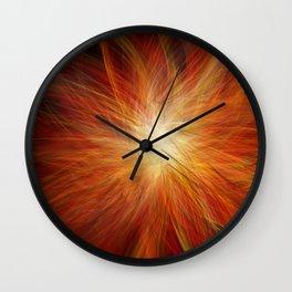Abstract Sunburst Wall Clock