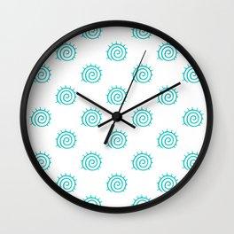 Aqua Spiral Abstract Pattern Wall Clock