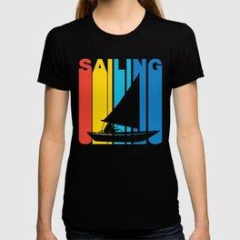 Retro Style Sailing Sail Boat T-shirt