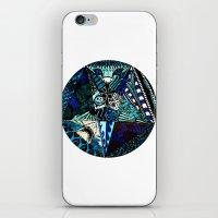 pentagram iPhone & iPod Skins featuring Blue Toned Pentagram by Nix Hunt