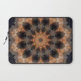 Burnt orange mandala in metallic bits and pieces Laptop Sleeve