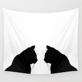 Black cat silhouette Wall Tapestry