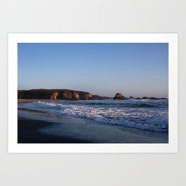 Beach at Pudding Creak, Fort Bragg, Northern California Art Print