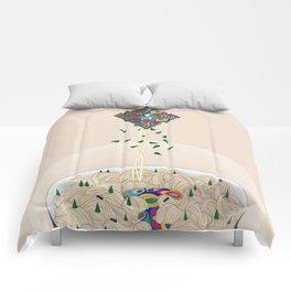 Spaghetti Owl (Diptych) Comforters