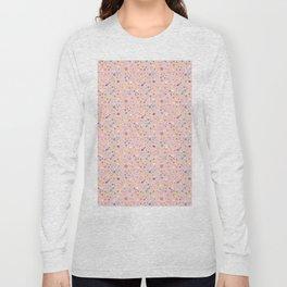 Postmodern Granite Terrazzo Large Scale in Pink Multi Long Sleeve T-shirt