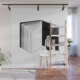 Reading is Dreaming with Your Eyes Open Wall Mural